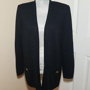St. John Sweaters - St. John Basics Open Front Cardigan